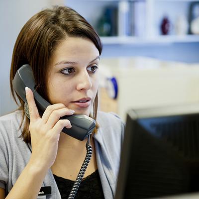 Technician providing phone support