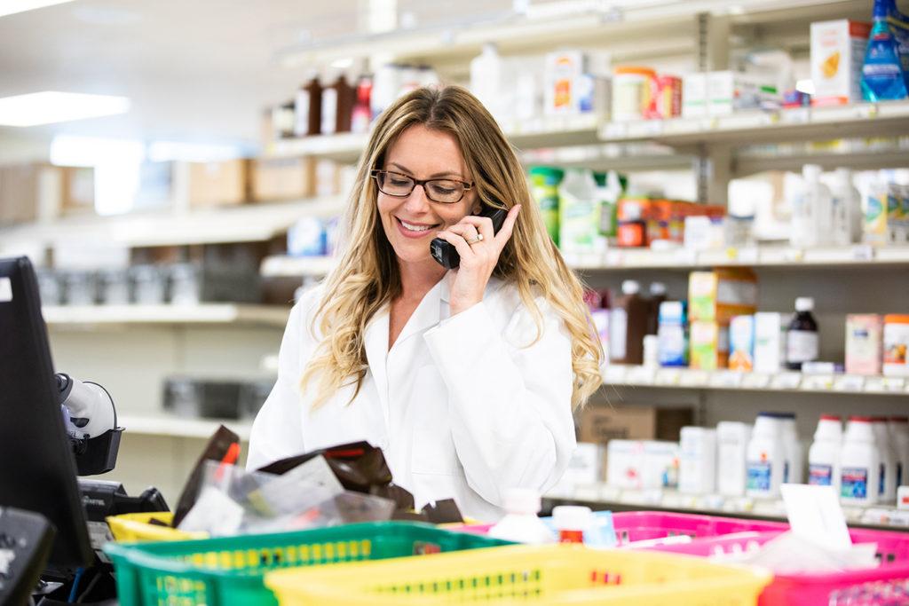 Symbria pharmacist on phone
