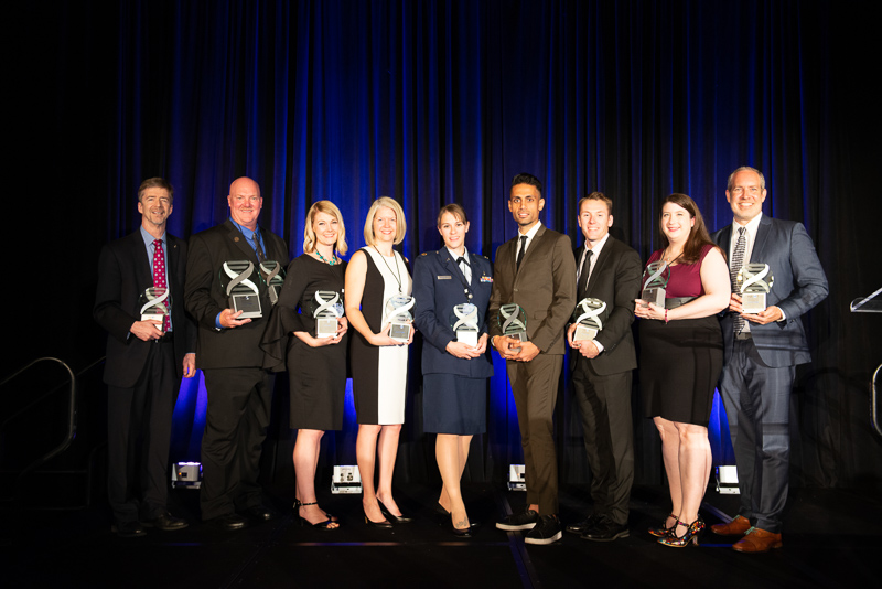 All 10 of the Category award winners for NGP