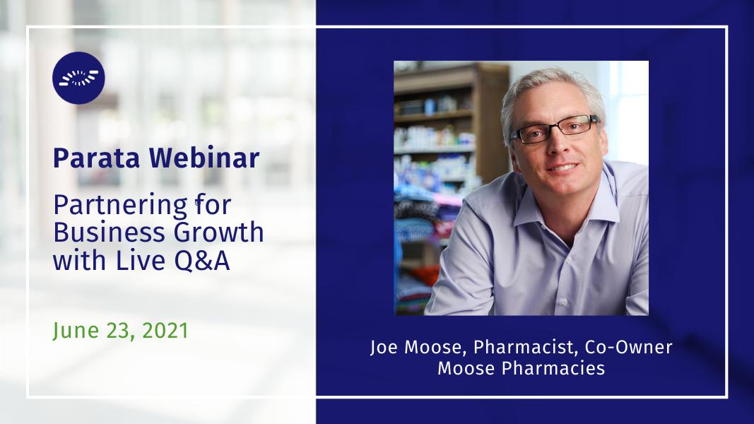 joe moose pharmacy parata webinar