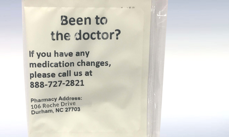 Use PASS reminder bags to check in on med changes