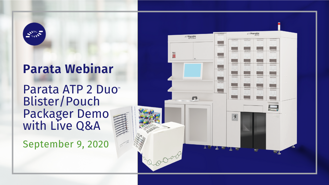 Join Parata for a demonstration of the ATP 2 Duo