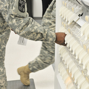 Parata Mini in use at a military DOD pharmacy
