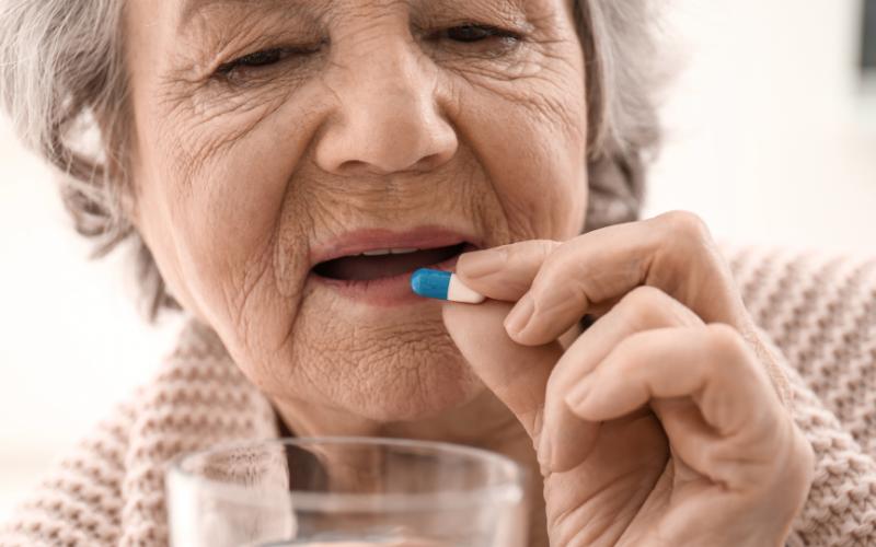 resident taking medication